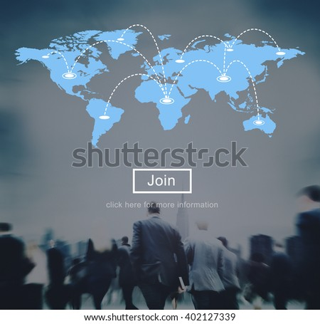 World Global Cartography Globalization Earth International Concept - stock photo