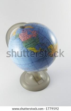 World globe indicating America (3 of 3) - stock photo