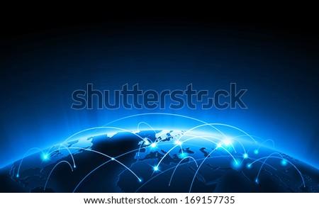 World globe map - stock photo