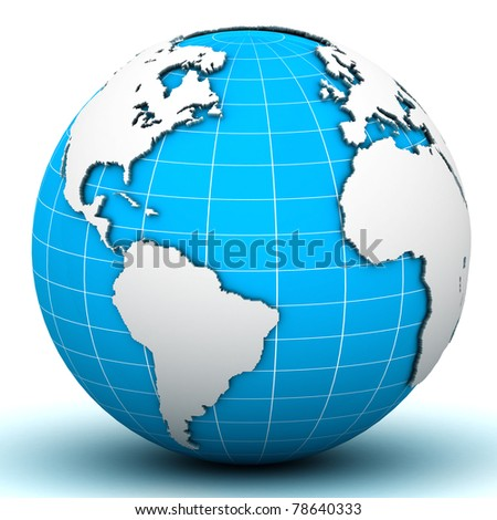 World Globe Map - stock photo