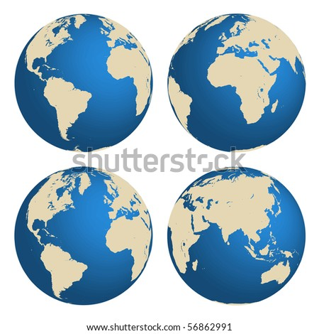 World globes vector concept - stock photo