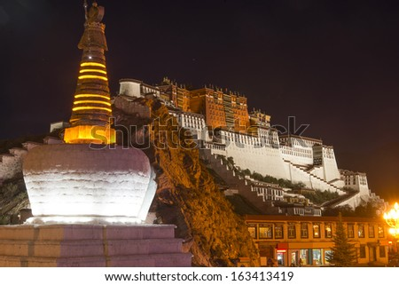 World Heritage in China Potala Palace - stock photo