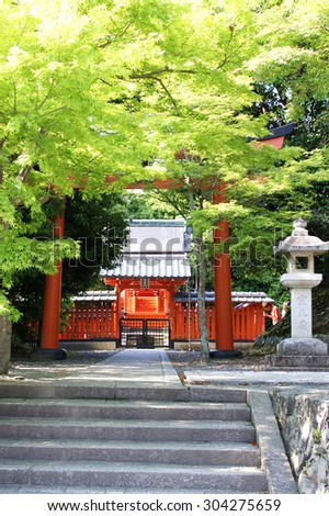 World Heritage Tenryu-ji, the fresh green of Reihisashibyo, Kyoto, Japan