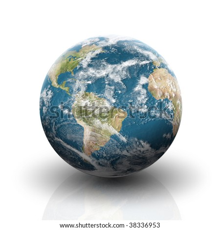 World illustration on a white background - stock photo