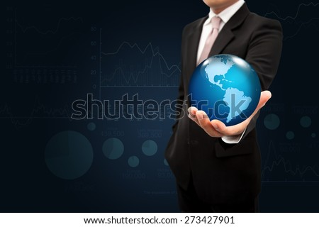 World in the hands Investment. - stock photo