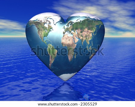 world in which lives love - stock photo
