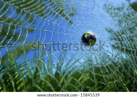 World in Wide Web (WWW concept) or Green Environment - stock photo