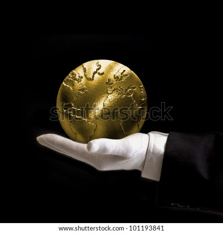 World is yours gold - stock photo