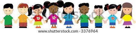 World Kids 02 - stock photo