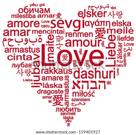 World Languages Of Word Love Forming A Heart Shape