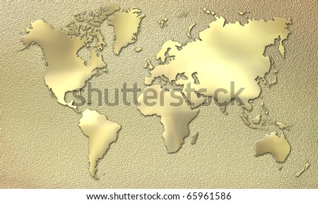 World made of gold