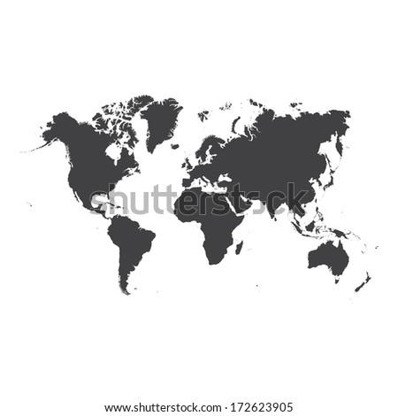 world map  - stock photo