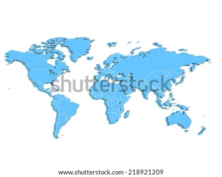 World map. - stock photo