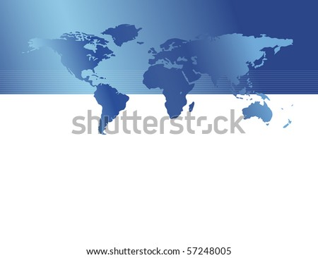 World map - stock photo