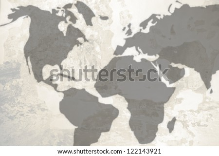 world map background, good for background - stock photo