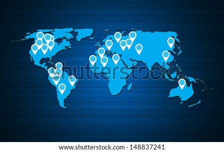 world map background  illustration