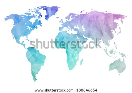 World map background polygonal style can stock illustration world map background in polygonal style can be used for website info graphics gumiabroncs Gallery