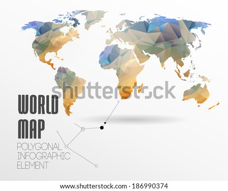 World map background polygonal style website stock illustration world map background in polygonal style for website info graphics banner gumiabroncs Gallery