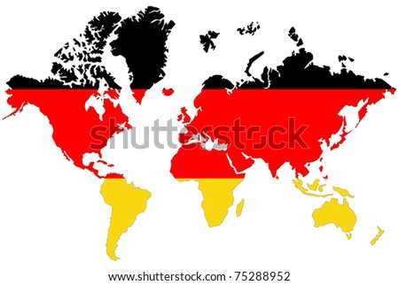 World map background germany flag stock illustration 75288952 world map background with germany flag gumiabroncs Images