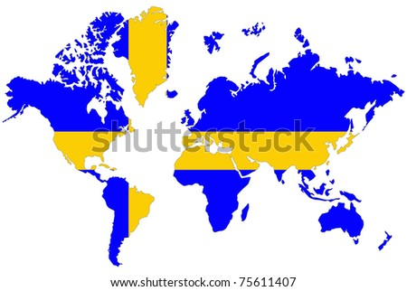 World map background sweden flag stock illustration 75611407 world map background with sweden flag sciox Choice Image