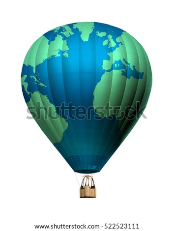 Hot air balloon world map image stock illustration 360398663 world map balloon 3d illustration gumiabroncs Gallery