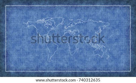 World map blueprint stock images royalty free images vectors world map blueprint 3d illustration malvernweather Image collections