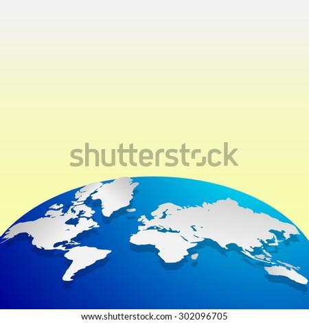 World map continents globe - stock photo