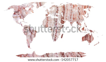 World map continents stone background stock illustration 142057717 world map continents in stone background gumiabroncs Gallery