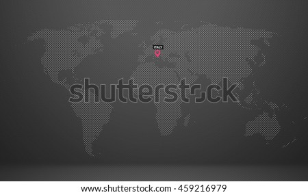 World Map Country Name Abstract Dot Stock Illustration 459216928