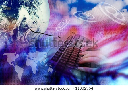 World map earth globe keyboard email stock photo royalty free world map earth globe keyboard e mail symbols and binary numbers gumiabroncs Gallery