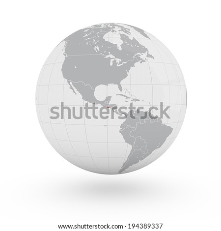 World map el salvador america stock illustration 194389337 world map el salvador america gumiabroncs Image collections
