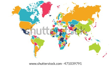 World map europe asia north america stock illustration 471039791 world map europe asia north america south america africa australia gumiabroncs Gallery