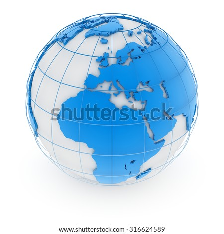 World map - europe , This is a computer generated and 3d rendered image.