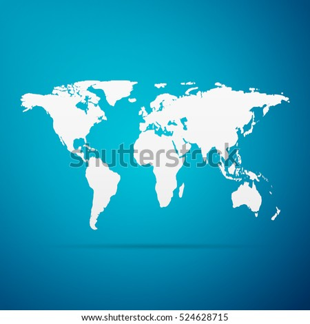 D Map World Grey Color Shadow Stock Vector Shutterstock - Www world map