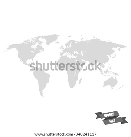 World map grey color on white stock illustration 340241117 world map grey color on a white background gumiabroncs Gallery