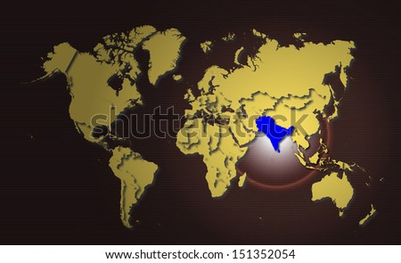 World map highlight saarc country stock illustration 151352054 world map highlight in saarc country gumiabroncs Choice Image