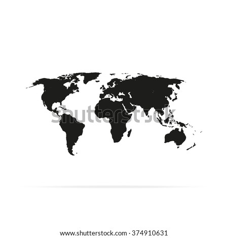 World map illustration. - stock photo