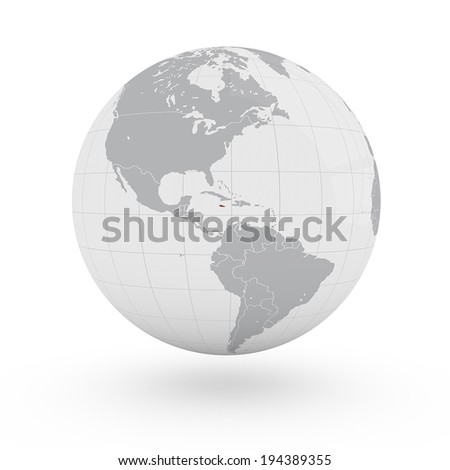 World Map Jamaica America