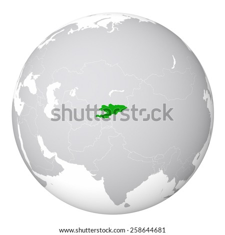 world map kyrgyzstan
