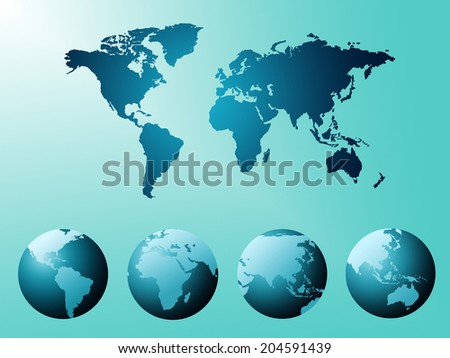 World Map Meaning Backgrounds Globalization And Cartography