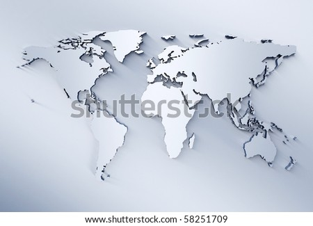 World map metal illustration