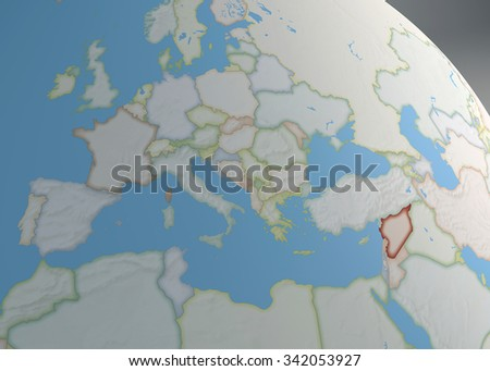 World map europe north africa middle stock illustration 342053927 world map of europe north africa and middle east with syria highlighted gumiabroncs Gallery