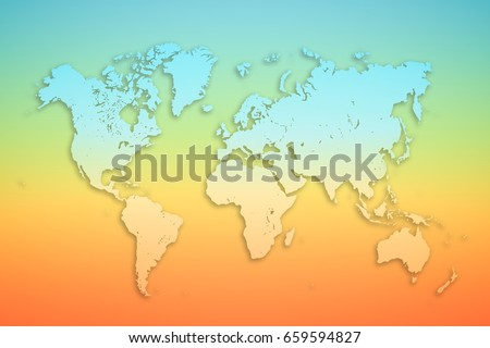 World map on colored background tourism stock photo 659594827 world map on colored background tourism concept banner or poster gumiabroncs Choice Image