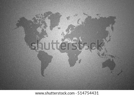 World map on gray frosted glass stock photo 514754431 shutterstock world map on gray frosted glass texture as background interior decoration design for windows or gumiabroncs Image collections