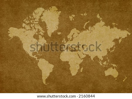 world map on rusty texture.Map used http://www.lib.utexas.edu/maps/world_maps/time_95.jpg Castaneda Library Col.copyright: http://www.lib.utexas.edu/maps/faq.html#3.htm - stock photo