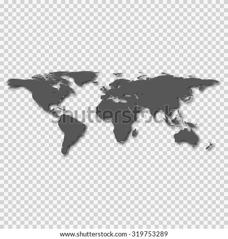 world map on the background of squares - stock photo