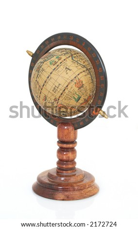 world map on white background - stock photo