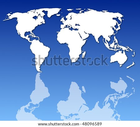 world map or globe with all continents - stock photo
