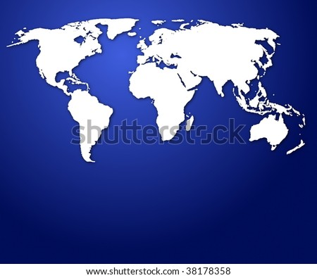world map or globe with copyspace for a text message