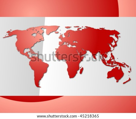 world map or globe with copyspace for text message - stock photo